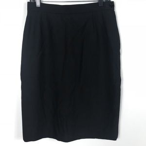 Yes Saint Laurent Encore Pencil Skirt Wool Black